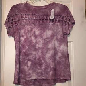 American Eagle Purple, Tie-Dye Top